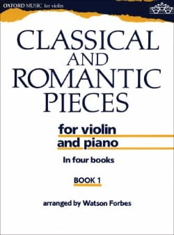 Watson Forbes - Classical and romantic pieces, Volume 1 - Sheet Music - di-arezzo.co.uk