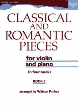 Watson Forbes - Classical and romantic pieces, Volume 3 - Partition - di-arezzo.fr