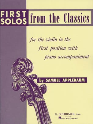 Samuel Applebaum - First solos from the classics - Partition - di-arezzo.fr