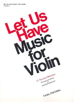 George Perlman - Let us have music for Violon, Volume 2 - Partition - di-arezzo.fr