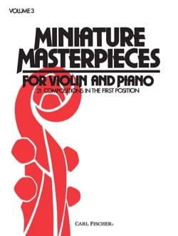 W. F. Ambrosio - Miniature Masterpieces, Volume 3 - Partition - di-arezzo.fr