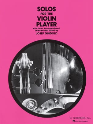 Josef Gingold - Solos for the violin player - Partition - di-arezzo.fr