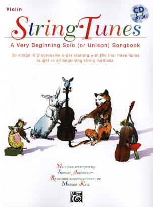 Samuel Applebaum - String Tunes - Violon - Partition - di-arezzo.fr