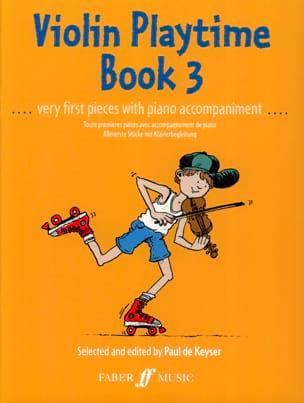 Violon Playtime book 3 - Paul de Keyser - Partition - laflutedepan.com