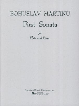 Bohuslav Martinu - First Sonata - Flute piano - Partition - di-arezzo.fr