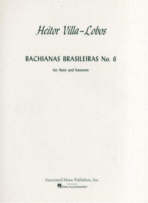 Heitor Villa-Lobos - Bachianas brasileiras n°6 - ファゴットフルート - 楽譜 - di-arezzo.jp