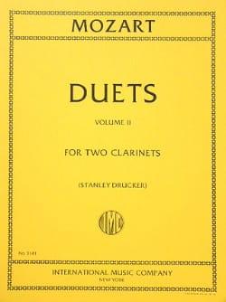 6 Duets - Volume 2 - 2 Clarinets MOZART Partition laflutedepan