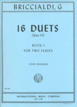 Giulio Briccialdi - 16 Duets op. 132 – Book 1 – 2 Flutes - Partition - di-arezzo.fr