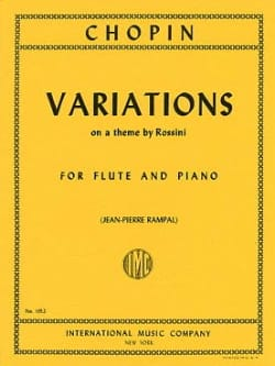 CHOPIN - Variations on a theme by Rossini - Piano flute - Partition - di-arezzo.co.uk