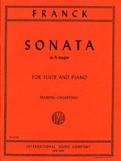César Franck - Sonata In A Major - Partition - di-arezzo.co.uk
