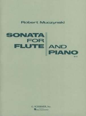 Robert Muczynski - Sonata for flute and piano op.14 - Sheet Music - di-arezzo.com