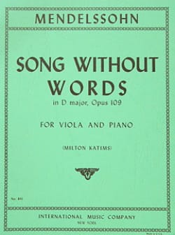 Song without words in D major op.109 posth - laflutedepan.com