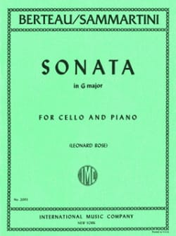 Giovanni B. Sammartini - Sonata in G major - Partition - di-arezzo.fr