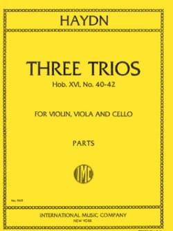 3 Trios Hob. 16 : 40-42 –Parts - Joseph Haydn - laflutedepan.com