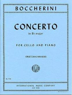BOCCHERINI - Cello Concerto B flat major - Sheet Music - di-arezzo.co.uk