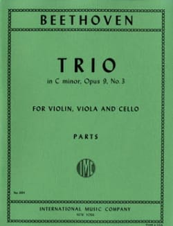 Trio op. 9 n° 3 C minor - Parts BEETHOVEN Partition laflutedepan