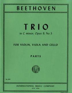 Trio op. 9 n° 3 C minor -Parts BEETHOVEN Partition laflutedepan