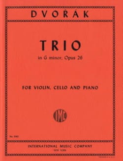 Trio G minor op. 26 - Parts DVORAK Partition Trios - laflutedepan