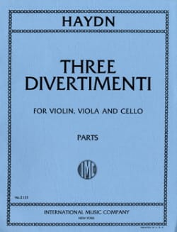 3 Divertimenti - Parts - HAYDN - Partition - Trios - laflutedepan.com