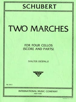 2 Marches - 4 Cellos SCHUBERT Partition Violoncelle - laflutedepan