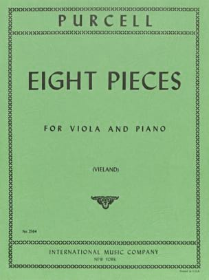 8 Pieces - Viola PURCELL Partition Alto - laflutedepan