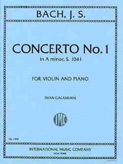Concerto in A minor n° 1 BWV 1041 - Violin - BACH - laflutedepan.com