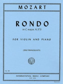 MOZART - Rondo do majeur KV 373 - Partition - di-arezzo.fr