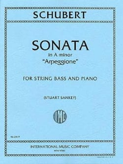 SCHUBERT - Sonata A min. Arpeggione D 821 - Double Bass - Sheet Music - di-arezzo.co.uk