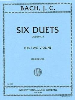 6 Duets, Volume 2 - Johann Christian Bach - laflutedepan.com