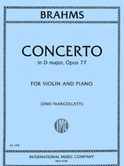BRAHMS - Concierto para violín Op. 77 en re mayor - Partitura - di-arezzo.es