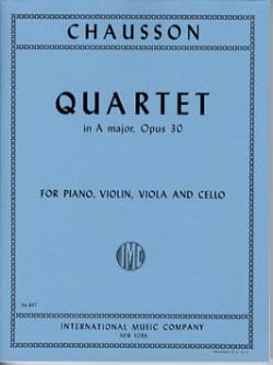 Ernest Chausson - Quartet A major op. 30 - Parts - Sheet Music - di-arezzo.com