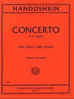 Ivan Handoshkin - Concerto in C major – Viola - Partition - di-arezzo.fr