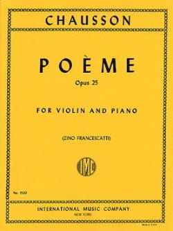 Ernest Chausson - Poem op. 25 Francescatti - Sheet Music - di-arezzo.com