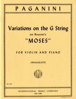 Variations on G String on Rossini's Moses PAGANINI laflutedepan