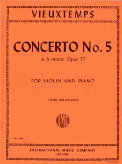 Henri Vieuxtemps - Violin Concerto No. 5 a minor op. 37 - Sheet Music - di-arezzo.com