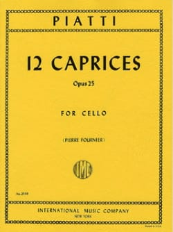 Alfredo C. Piatti - 12 Caprices op. 25 - Sheet Music - di-arezzo.co.uk