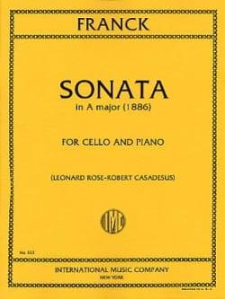 César Franck - Sonate En la Majeur - Partition - di-arezzo.fr