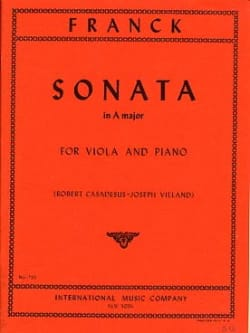 César Franck - Sonata in A major – Viola - Partition - di-arezzo.fr