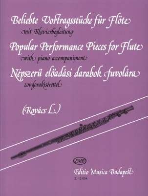 Popular performance pieces for Flute Lorant Kovacs laflutedepan