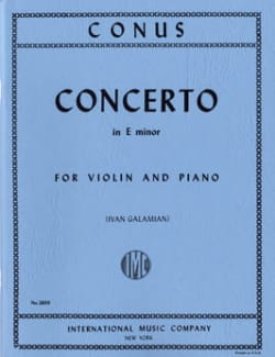 Concerto mi mineur Julius Conus Partition Violon - laflutedepan