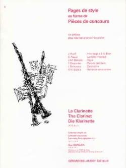 - Pages de style en forme de pièces de concours - Partition - di-arezzo.fr