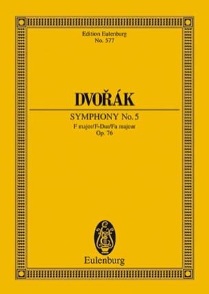 Sinfonie Nr. 5 F-Dur - Antonin Dvorak - Partition - laflutedepan.com