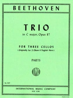 Trio in C major op. 87 - 3 Cellos BEETHOVEN Partition laflutedepan