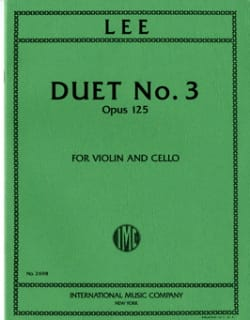 Sebastian Lee - Duet n° 3 op. 125 - Partition - di-arezzo.fr