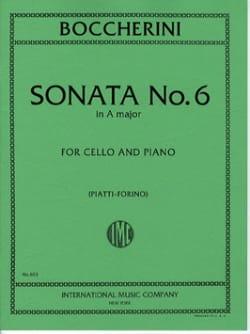 BOCCHERINI - Sonata No. 6 A major - Cello - Sheet Music - di-arezzo.com