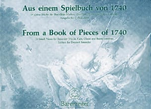 Erich Doflein - Aus einem Spielbuch von 1740 - Partition - di-arezzo.fr
