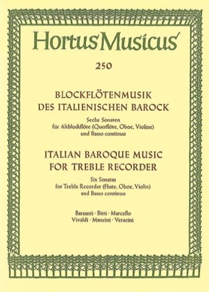 - Blockflötenmusik of the Italianischen Barock - Altblockflöte u. Bc - Sheet Music - di-arezzo.co.uk