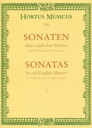 Hugo Ruf - Sonaten alter englischer Meister - Bd. 1 - Altblockflöte u. Bc - Sheet Music - di-arezzo.co.uk