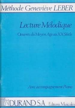 Geneviève Leber - Lectures Mélodiques - Partition - di-arezzo.fr