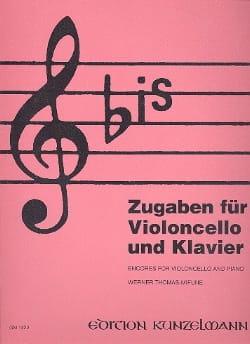 Bis : Zugaben - Cello Werner Thomas-Mifune Partition laflutedepan